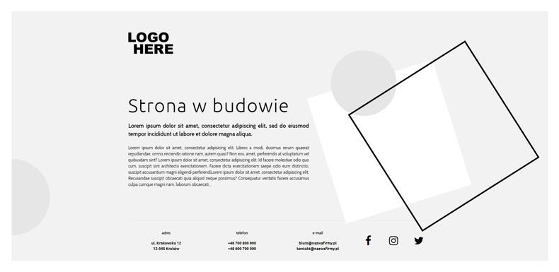 Strona WWW w budowie
